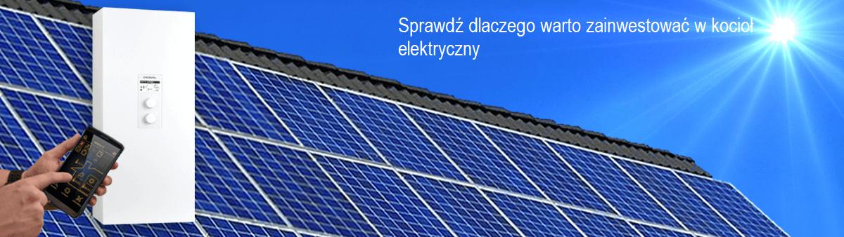 Kocioł elektryczny Kospel i panele fotowoltaiczne